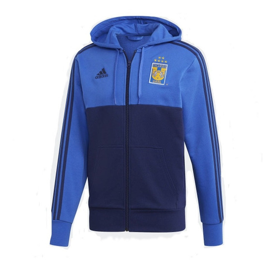 Sudadera adidas Tigres Ualn Azul Hombre Original Cd6015