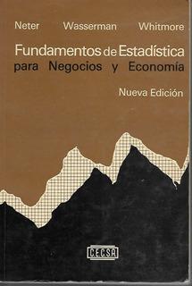 Fundamentos De Estadística Para Negocios - Neter [lea]