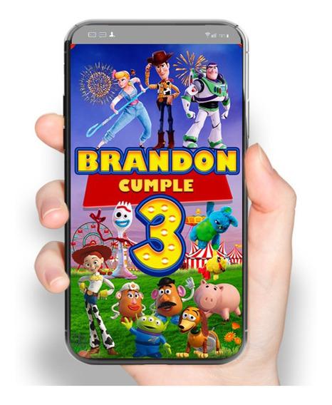 2x1 Video Invitación Toy Story 4 Fiesta De Cumpleaños