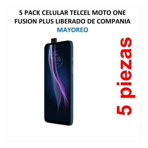 Imagen 1 de 5 de 5 Pack Celular Telcel Moto One Fusion Plus Liberado De Compa