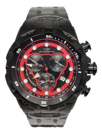 Relógio Masculino Preto Vip Grande Cronografo Original