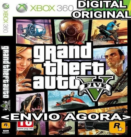 Gta V Mais Minecraft E Mais 10 Jogos Mídia Digital Xbox 360!