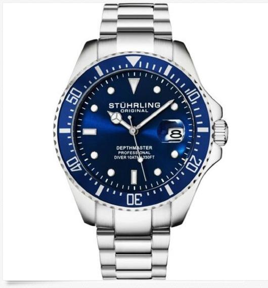 Reloj Hombre Stuhrling 3950 Depthmaster Aquadiver Sumergible