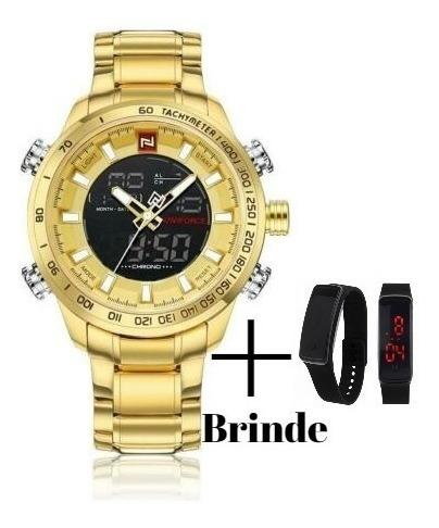 Relógio Masculino Militar Esportivo Luxo Naviforce Nf9093 +