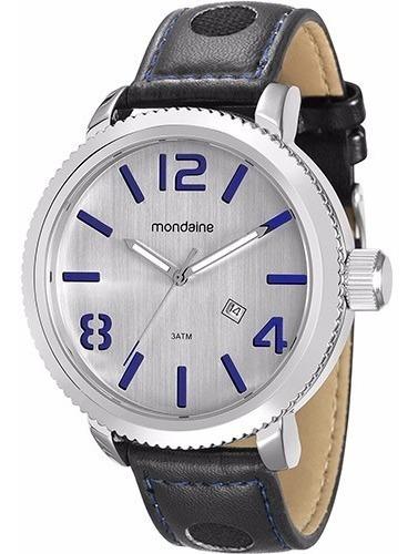 Relógio Mondaine Masculino Grande Pul. Couro 94791g0mvnh1 B
