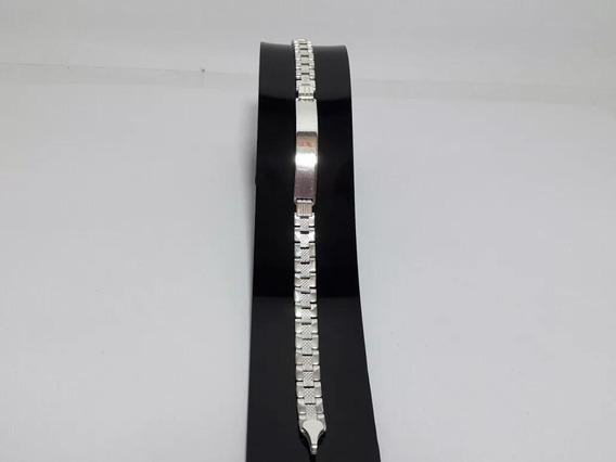 Esclava Tejido Rolex Plata Ley 925 21cmx6mm Joyería Fina