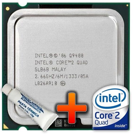 Intel 775 Core 2 Quad Q9400 2,66ghz Usado + Pasta Térmica