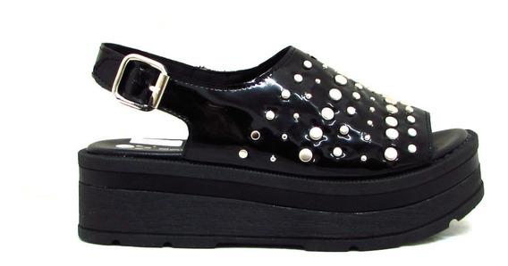Sandalias Mujer Zapatos Plataformas Tachas Moda Art Mad-923