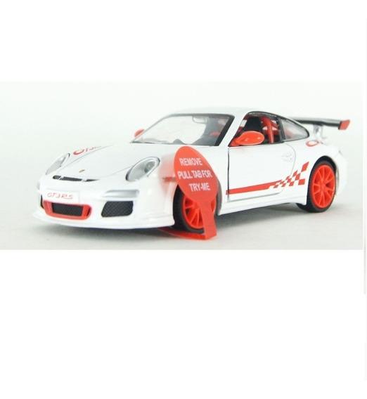 Carro Miniatura Coleção Porsche 911 Som E Luz Escala 1/32