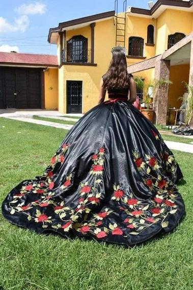 Oferta!!!! Vestido De Xv Años, Bordado A Mano¿¿