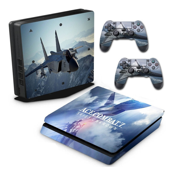 Adesivo Skin Ps4 Slim Ace Combat 7: Skies Unknown