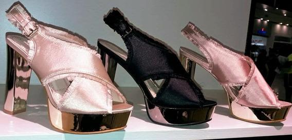 Zapatos Con Taco Y Plataforma Brillosos!! Envio Gratis!!