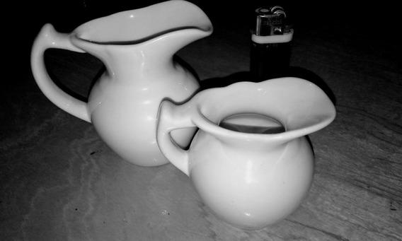 Jarrita Cremera / Limon Y Pimenteros De Porcelana