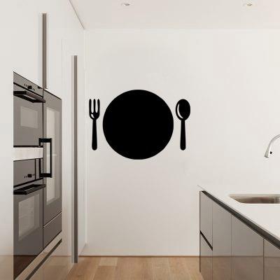Adesivo Parede Cozinha Menu Recados Prato Lousa Giz 90x62cm