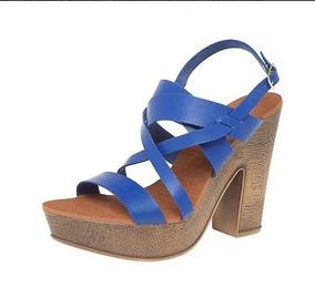 Sandália Salto Plataforma Meia Pata Mary Pepper Rm22