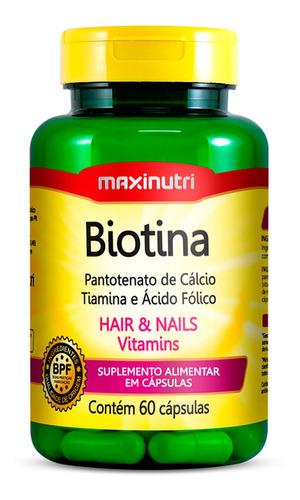 Imagem 1 de 3 de Biotina Firmeza & Crescimento - Maxinutri - 60 Cápsulas