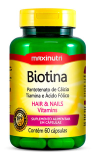 Biotina Firmeza & Crescimento - Maxinutri - 60 Cápsulas