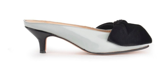 Zapatos De Mujer Pastel Moño Gamuza Destalonado - Ferraro