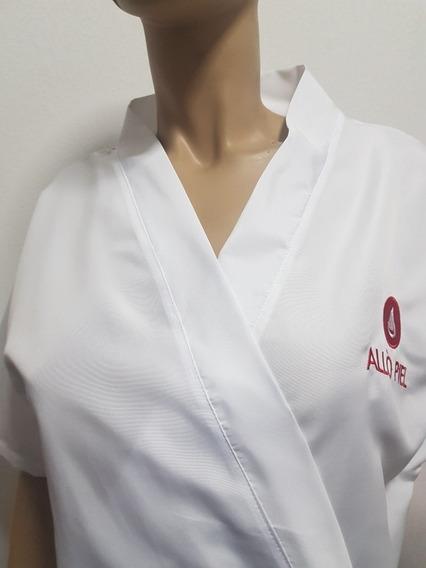 Bata Microfibra Peluquería Estética Spa Xxl Sin Logo