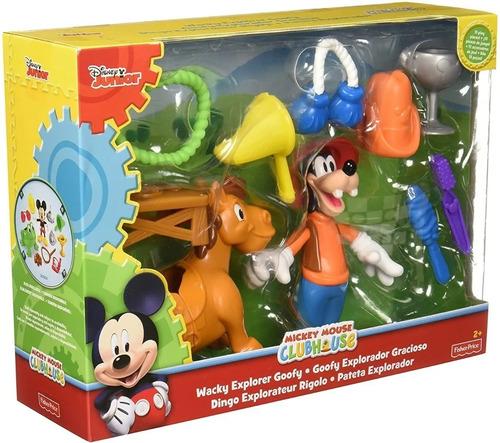 Goofy Figura Explorador Gracioso Disney Mickey Fisher Price