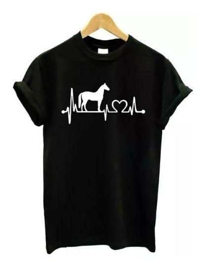 Camiseta Baby Look Love Cavalo Horse Tumblr Blusa Feminina