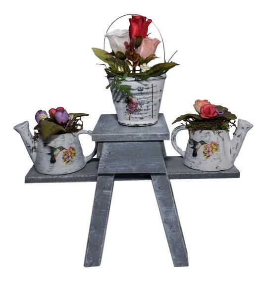 Cesta de Flores para Boda Vintage Arpillera R/ústica Decdeal