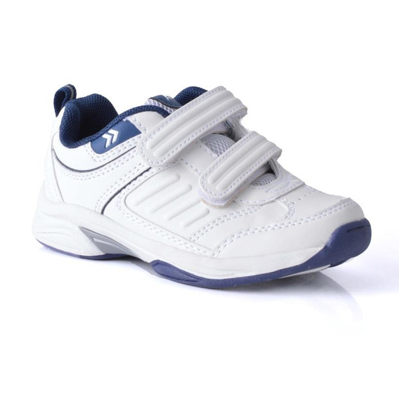 Zapatilla Atomik Footwear - 1986-at-0048-j-blanco Y Azul