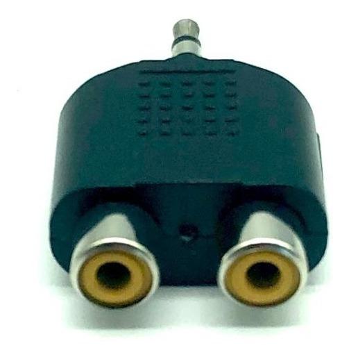 Adaptador Conector P2 2 Rca Femea Le-5564