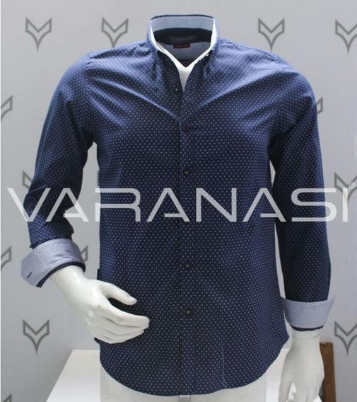 Camisa Hombre Manga Larga Varanasi Custom Fit 2812 Moda