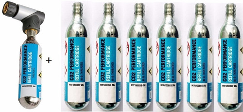Bomba Co2 Shimano Pro Pneu Bike C/ Cartucho + 6 Cilindro 16g