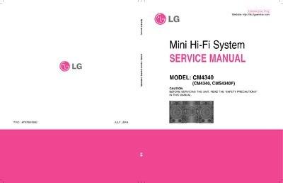 Esquema Som Lg Cm4340 Mini Hi-fi System