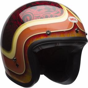 Capacete Old School Bell Custom 500 Hart Lucky Retro Cafe