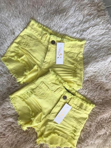 Shorts Jeans Feminino Atacado Cintura Alta Hot Pant