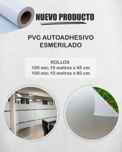 Imagen 1 de 4 de Rollo Contact Esmerilado P/vidrios Ventanas 45 Cm X10 Mts