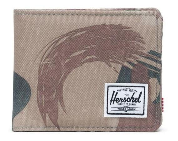 Billetera Herschel Roy Rfid Brushstroke Camo De Hombre