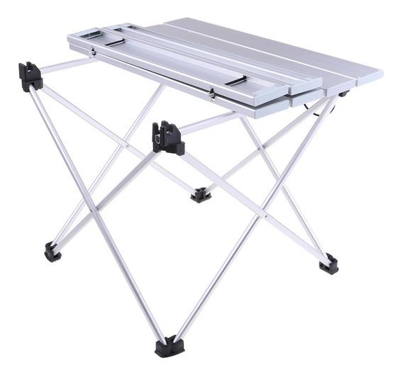 Mesa Plegable Portátil De Aluminio De Escritorio De