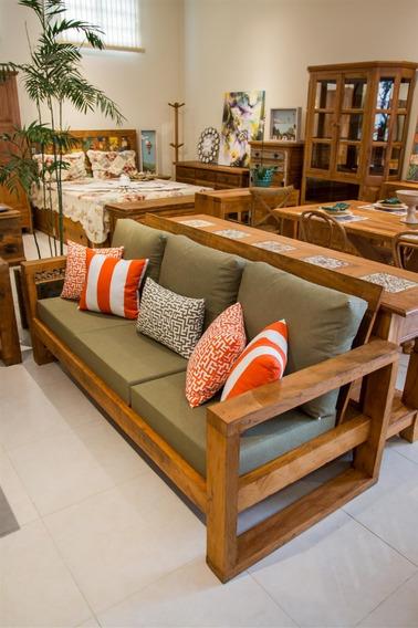 Sofá Clean 3 Lugares De 1,8mt+1 Poltrona Madeira Maciça
