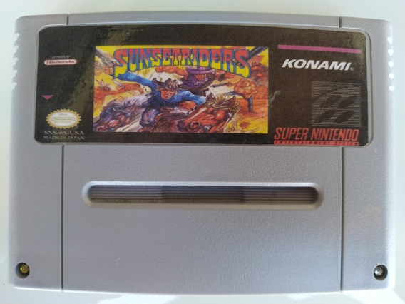 Sunset Riders Repro Placa Original Super Nintendo Snes