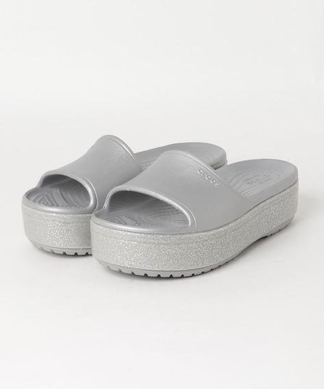Crocs Crocband Platform Metallic Slide
