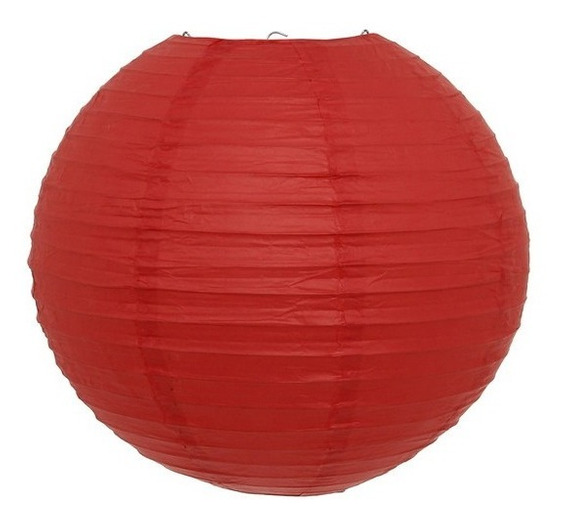 Kit 3 Luminária Japonesa Vermelha Oriental Festa Decora 40cm