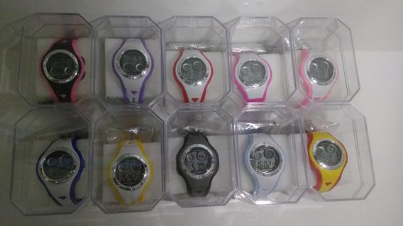 Kit Com 10 Relógios Infantil Digital C/caixas Atacado