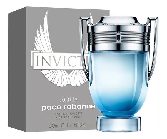 Perfume Paco Rabanne Invictus Aqua Masc Edt 50ml + Amostra