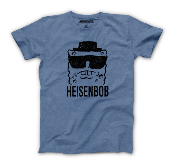 Playera Grapics Heisenbob Heisenberg Bob Esponja Geek