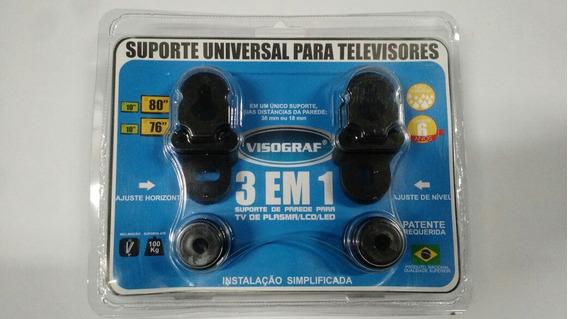 Suporte Tv Universal 3 Em 1 Plasma/lcd/led Visograf