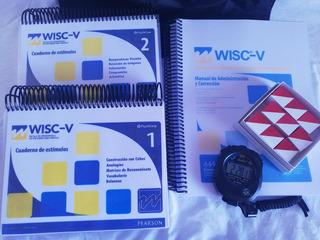 Wisc V Versión Chilena + Bolso+ Cronómetro De Regalo