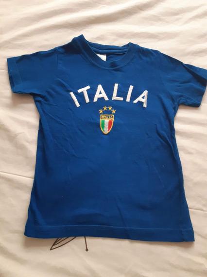 Playera De Italia Para Niño Talle 3 Años