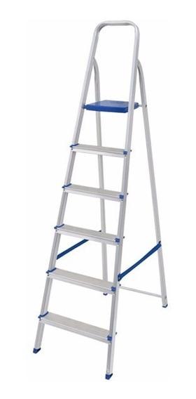 Escalera Aluminio Mor 6 Escalones 1.30mts Altura Utilizable