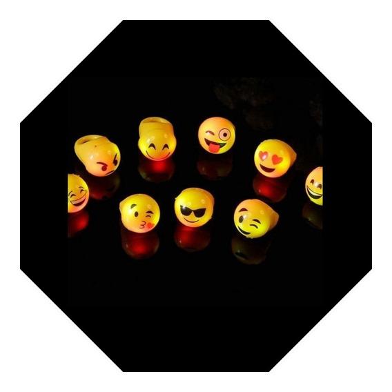 Anillos Emojis Led Luminosos Emoticon Silicona X 10 Emoji