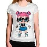 Camiseta Infantil Boneca Lol 25,00