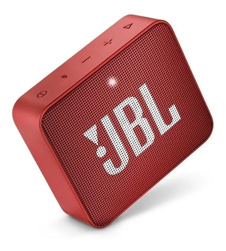 Caixa Bluetooth 5.0 Jbl Go2 Portatil Vermelho Prova De Agua